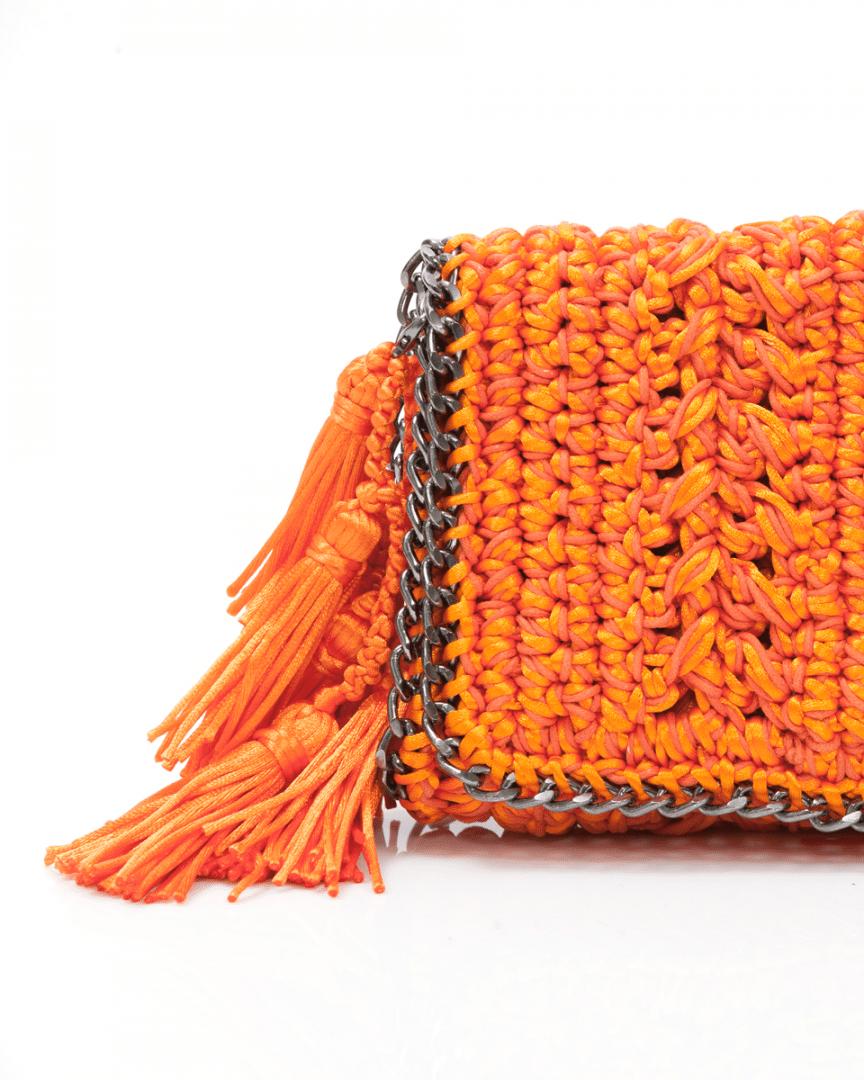 Bolsa Catarina Mina Mira cor laranja