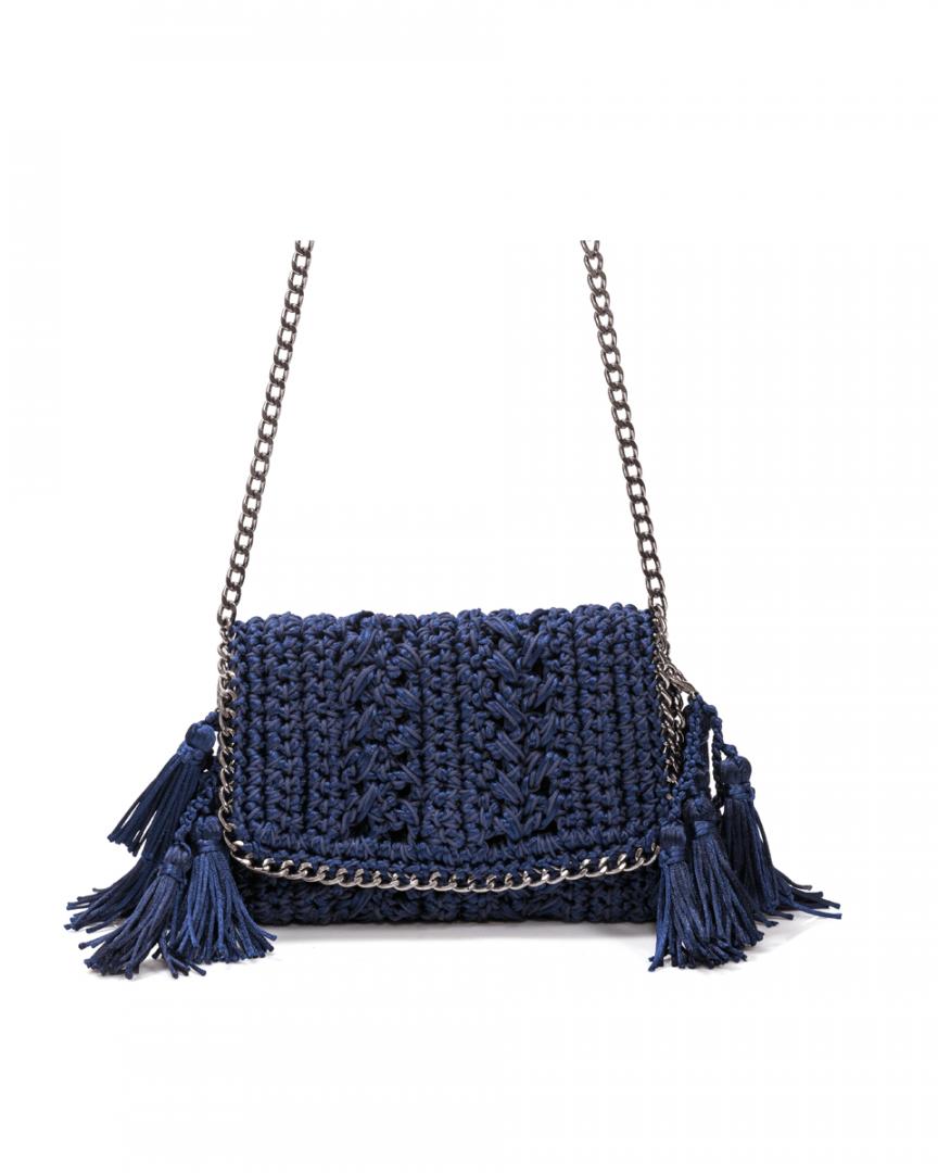 Bolsa Catarina Mina Mira cor azul marinho
