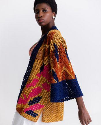 Kimono Olê Catarina Mina Bioma Renda de Bilro
