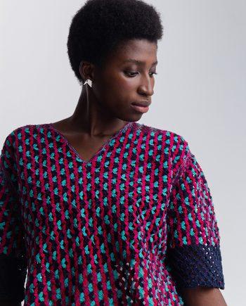 Blusa Semente Catarina Mina Renda de Bilro Multicolor